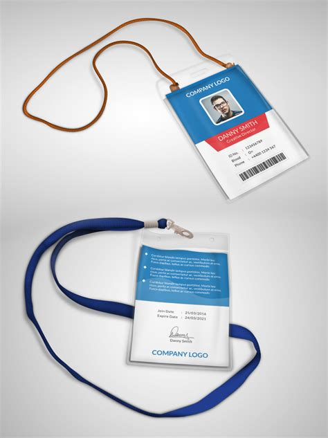 Company Id Cards Templates Free by Multipurpose Company Id Card Free Psd Template