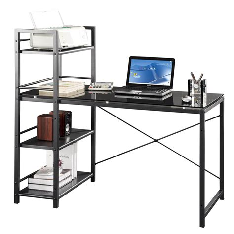 awesome computer desk with shelves on desks techni mobili