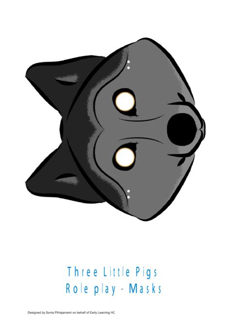 pigs role play wolf  pig mask templates