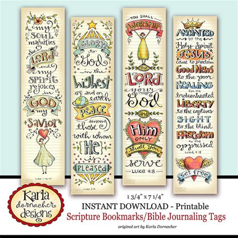 bible bookmark template luke 1 4 bible bookmarks bible journaling tags instant