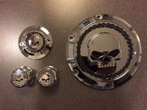 Willy G Axle Nut Harley Davidson harley sportster willie g skull derby cover timer cover front axle nut covers ebay