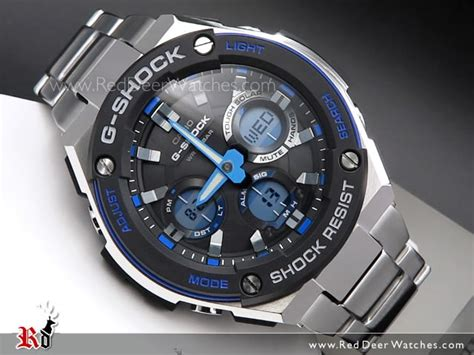 Casio Original Pria G Shock Gst S100d 1a2 buy casio g shock analog digital solar stainless steel band sport gst s100d 1a2 gsts100d