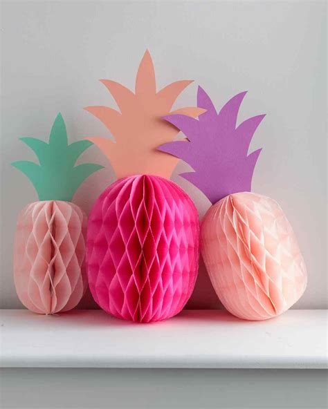 paper pineapple party decorations martha stewart