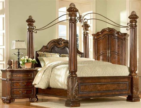 King Size Canopy Bed Sets Big Post Bed King Size Canopy Bed Ebay Electronics Cars Fashion Collectibles