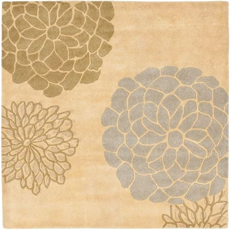 6 foot square rug safavieh soho beige multi 6 ft x 6 ft square area rug soh211b 6sq the home depot
