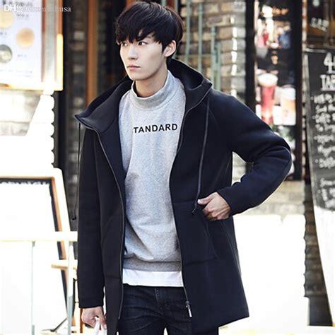 Trench Jacket Black Korean Style fall korean fashion trench coat brand designer element