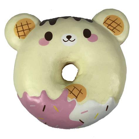 Squishy Cafe Animal Donut Cafe Animal Donut puni maru animal donut squishy featuring cheeki cheeka and yummiibear