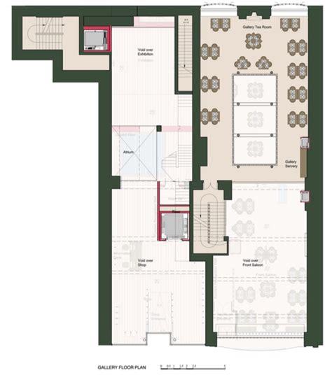 gallery floor plan project the willow tea rooms trust