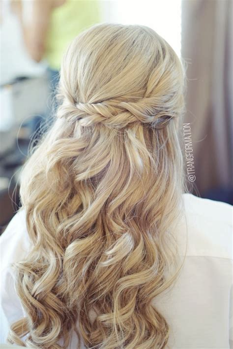Wedding Hairstyles For Brown Hair by Half Up Half Bridal Hair Wedding Hair