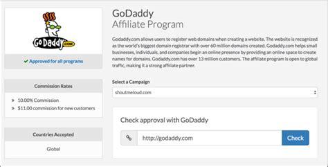signup  godaddy affiliate start making money