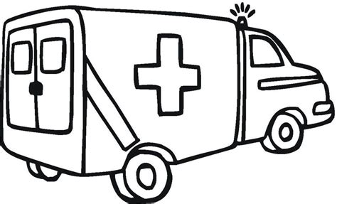 ambulance coloring pages coloring home