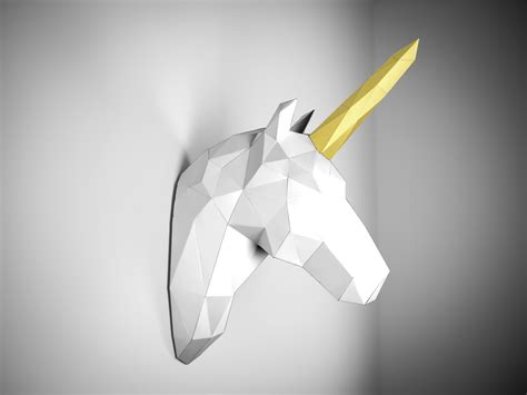 imagenes de unicornios en 3d animales de papel un trofeo para tu pared contenido