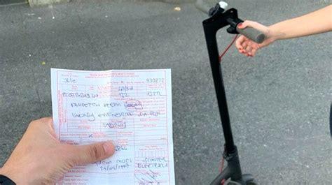 elektrikli scooter ile yola inen yandi polis ceza kesmeye