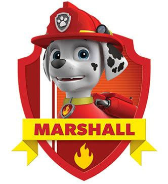 paw patrol characters paw patrol marshall and paw patrol badge marshall from paw patrol nickelodeon africa patrulla