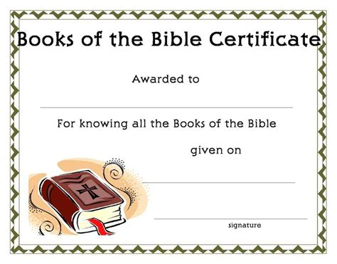 Www Certificatetemplate Org Books Of The Bible Certificate For Your Kids Ministry Sunday Bible Study Certificate Templates