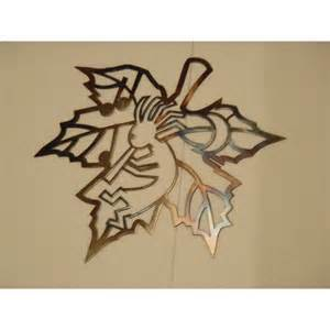 Leaf Wall Decor by Kokopelli Inside Leaf Contour South Western Metal