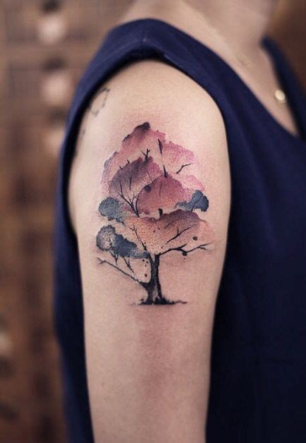 watercolor tattoo fade best 25 watercolor tree ideas on