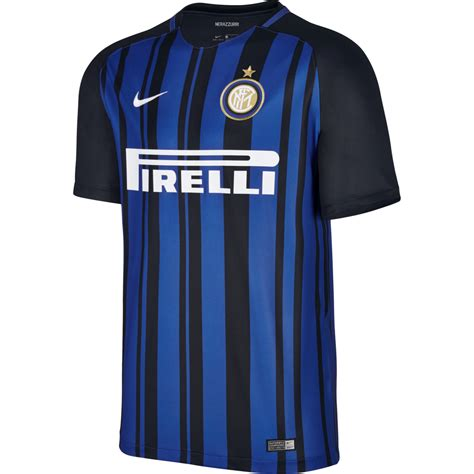 Jersey Inter Milan 2017 2018 Home by Nike Inter Milan Home Mens Sleeve Jersey 2017 2018