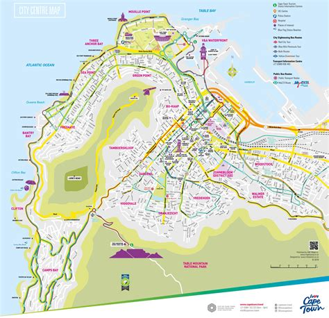 cape town south africa map cape town tourist map