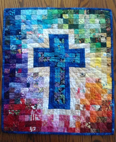 watercolor cross pattern quilt pattern watercolor rainbow religious cross christian