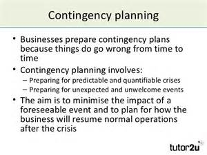 Small Business Contingency Plan Template by Managing Risk And Contingency Planning