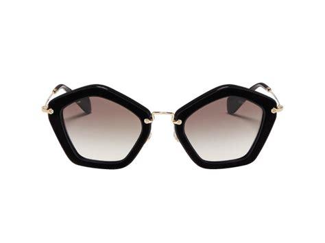 Frame Kacamata Miu Miu Cat Eye Ungu Gradasi Kacamata Wanita bentuk geometris