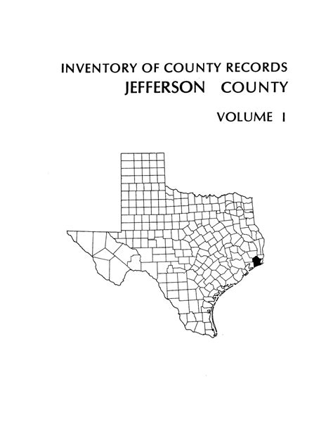 Jefferson County Records Inventory Of County Records Jefferson County Courthouse