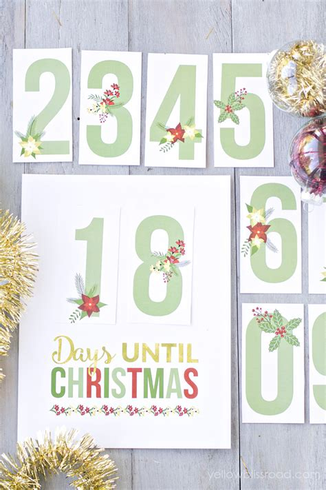 printable christmas countdown free printable christmas countdown 2015 calendar