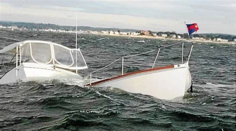 boat sinking long island sound 2 rescued from sinking boat in long island sound in old