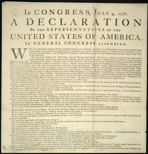 Is The Declaration Of Independence A Document