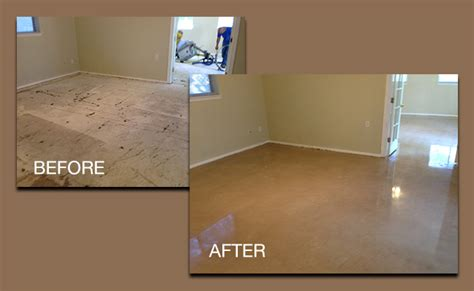 care aand concrete flooring before after floors and countertops studies