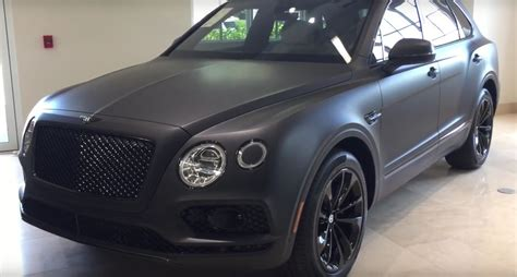 bentley black matte bentley bentayga stealth edition is the first one with a