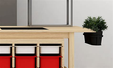 Ikea Planter Box by Ikea Products Become Compact Kitchen With Planters Gardens