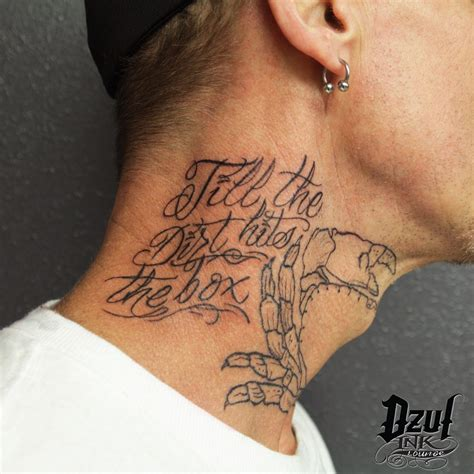 neck tattoos for men words neck tattoos words www pixshark images galleries