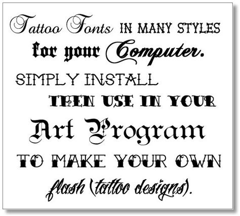 tattoo the most creative tattoo fonts