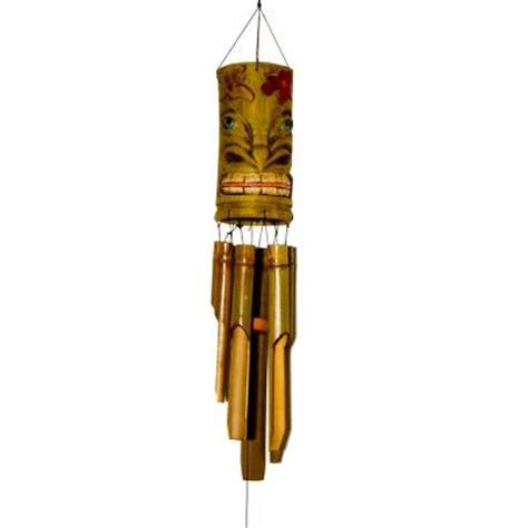 20 in bamboo wind chime tiki wc003 the home depot