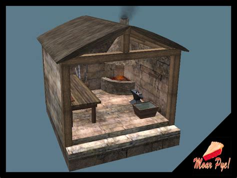 Home Building Blueprints Second Life Marketplace Medieval Blacksmith Forge