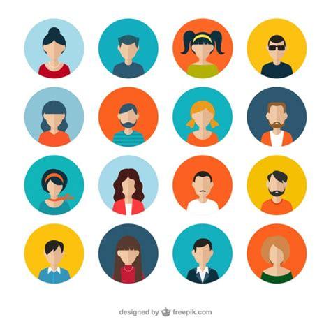 variety  human avatars  vector