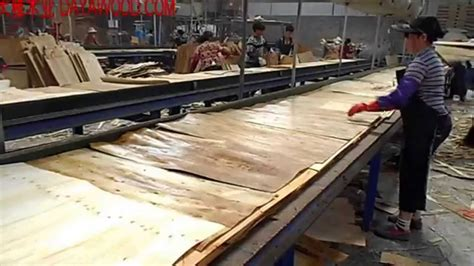 production woodworker veneer jointing and bonding production process of
