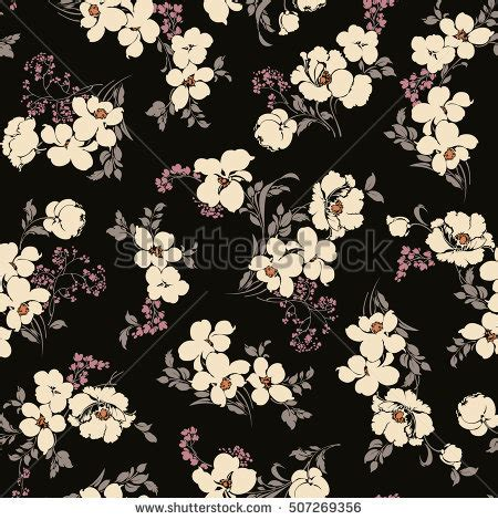 floral pattern en francais flower pattern illustration stock vector 507269356