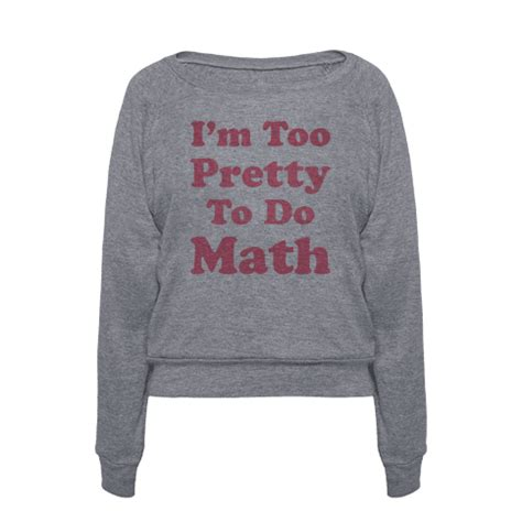 Sweater I M With Math human i m pretty to do math clothing pullover