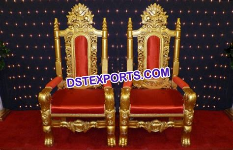 indian wedding chairs for and groom wedding gold groom chairs