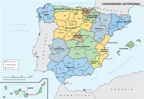 atlas de espana y mapa pol 237 tico espa 241 a primaria comunidades aut 243 nomas colorea madridcolorea madrid