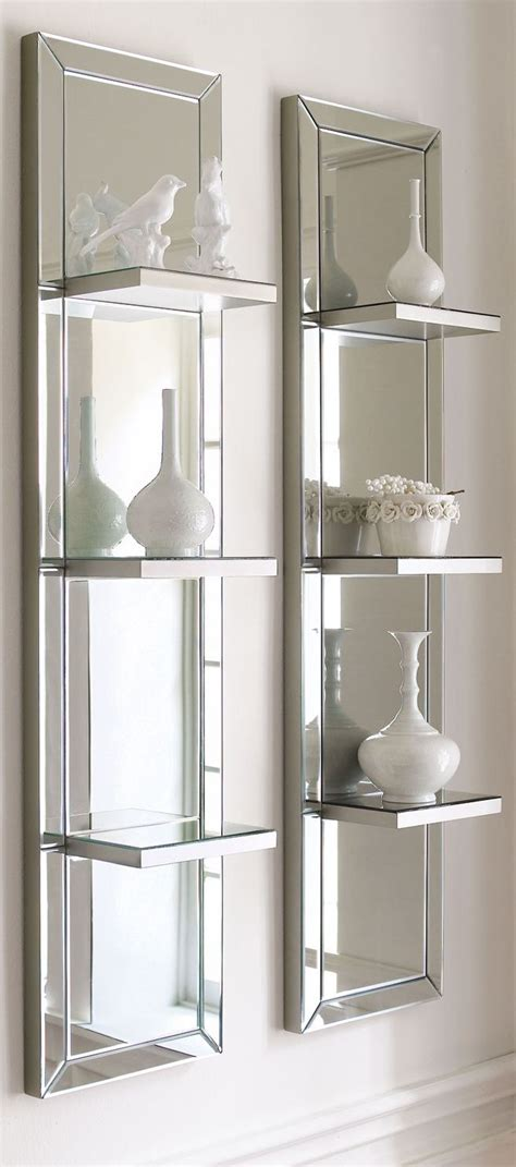 bookcase with mirror mirrored shelf wall panel makany pinterest mirror