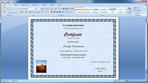 cara membuat undangan di word 2007 membuat border undangan di word belajar microsoft word