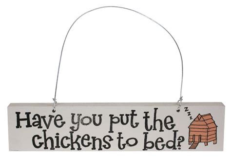 put you to bed have you put the chickens to bed door hanger for women fabulous gifts omlet