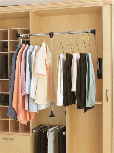 quikcloset clothes storage solution in closet rods and 3 smart closet upgrades hgtv