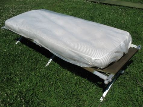 army cot bed us army military folding cing cot bed and mattress