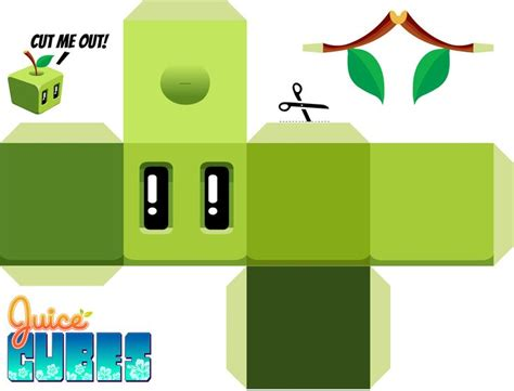 Angry Birds Papercraft - juice cubes apple papercraft juice cubes