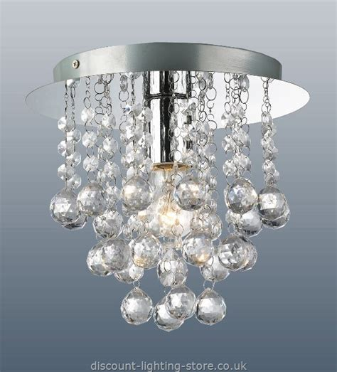 Modern Light Fittings Ceiling Palazzo Contemporary Polished Chrome Light Fitting With Acrylic Droplets 1 Light Ceiling